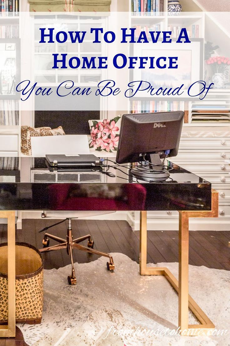 How To Have a Home Office You Can Be Proud Of | If you are looking for some home office design ideas, these tips will give you inspiration to create a functional and comfortable workspace layout.