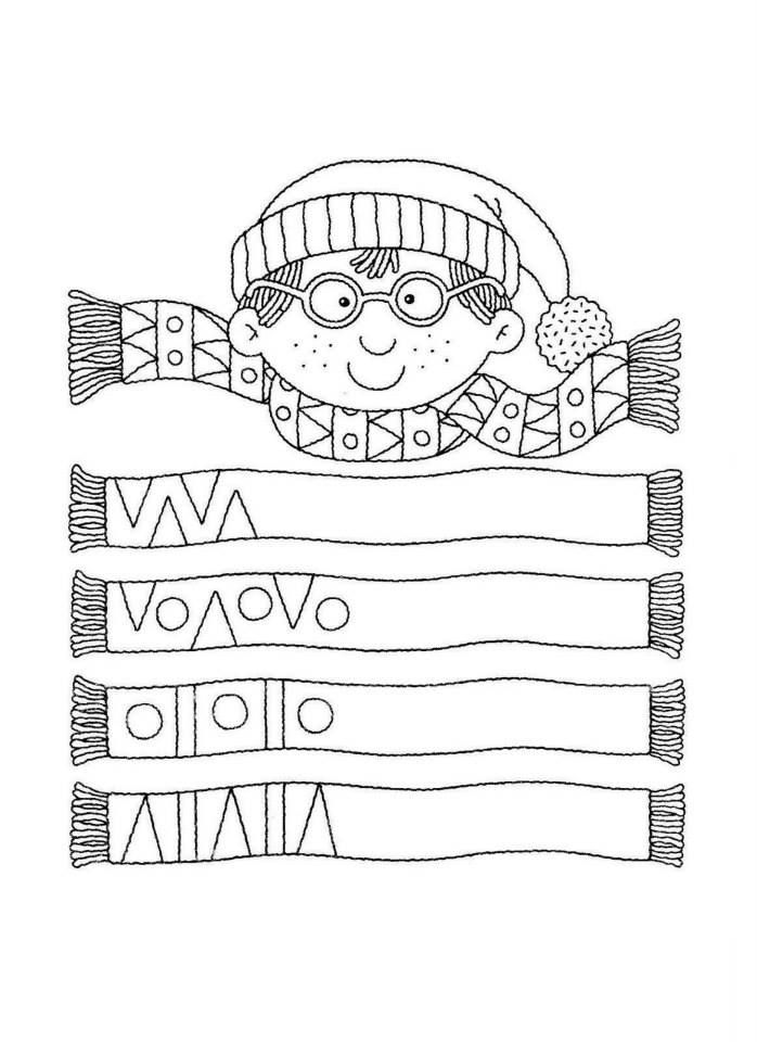 Muster vervollständigen Winter - Vorschule