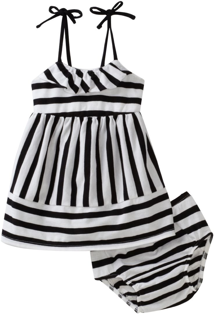 Roxy Kids Baby Girls' Just Peachy Knit Dress, Black Stripe, 24 Months
