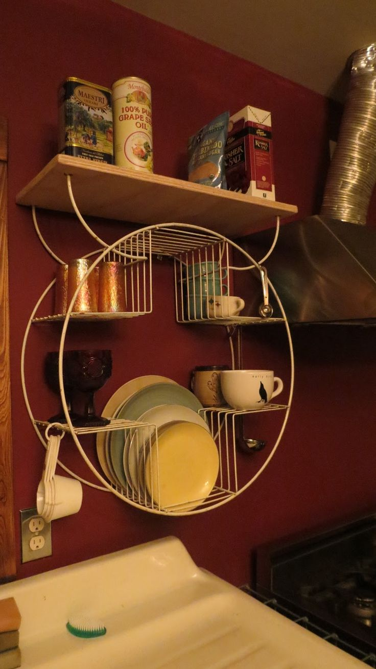 Mellish Fields West: Plant Stand Repurposed as Dish Rack