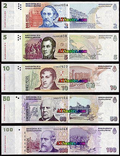 argentina currency | Argentina banknotes - Argentina paper money catalog and Argentinian ...