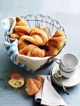 """Croissants. Gourmet Traveller. Photo William Meppem.    This is the only """"bread"""" type food that Samuel will eat. So every day he has pre school we have to make sure we have croissants in the house."""