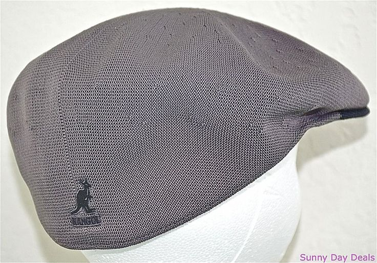 Kangol Cap Mens Two Tone Recycled Tropic 504 Hat Sloped K0874CO Charcoal Gray L  #Kangol #NewsboyCabbie
