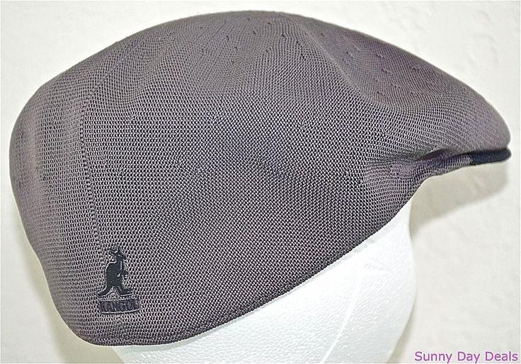 Kangol Cap Mens Two Tone Recycled Tropic 504 Hat Sloped K0874CO Charcoal Gray L  #Kangol #NewsboyCabbie