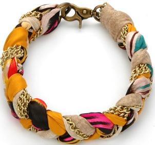 vintage scarf bracelet