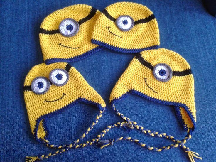 Made by Annemiek: Gehaakte Minions Hats
