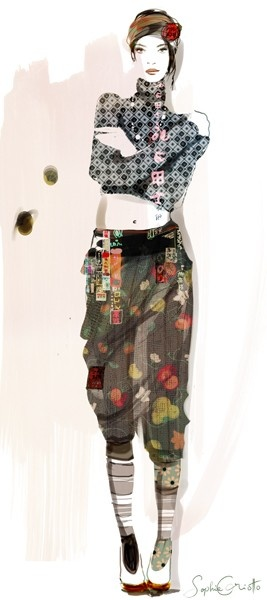#fashion illustration By Sophie Griotto