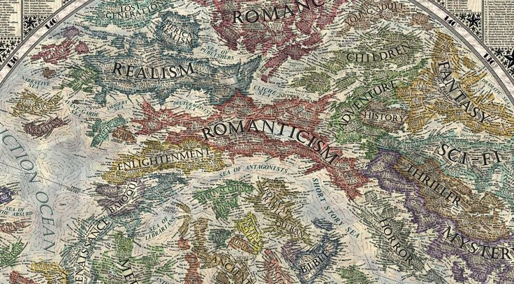 Romanticism serves as the bridge between realism, enlightenment, and fantasy in 17-year-old Martin Vargic's meticulously comprehensive Map of Literature. Vargic is a self-appointed illustrator of...