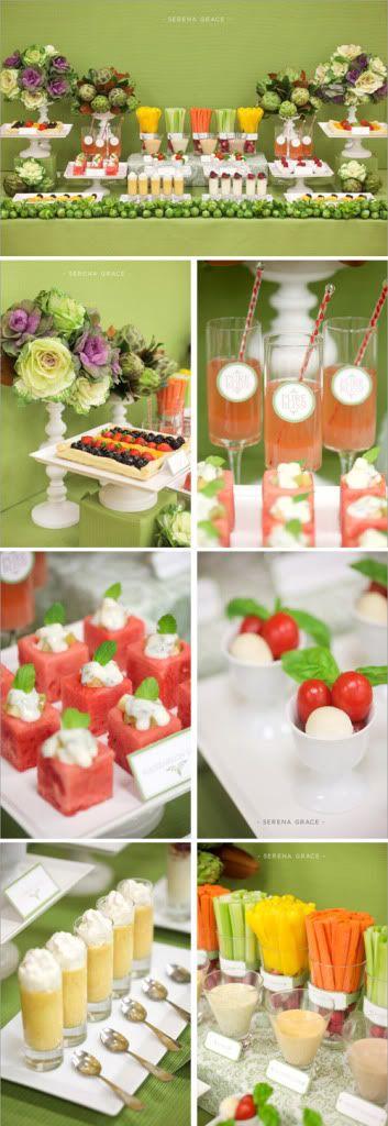 Ideas para bodas: Mesa o buffet de frutas y hortalizas