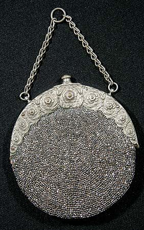 Steel beaded purse, 1870-1880s  know it is not really jewelry...but really, this would be warn as jewelry!