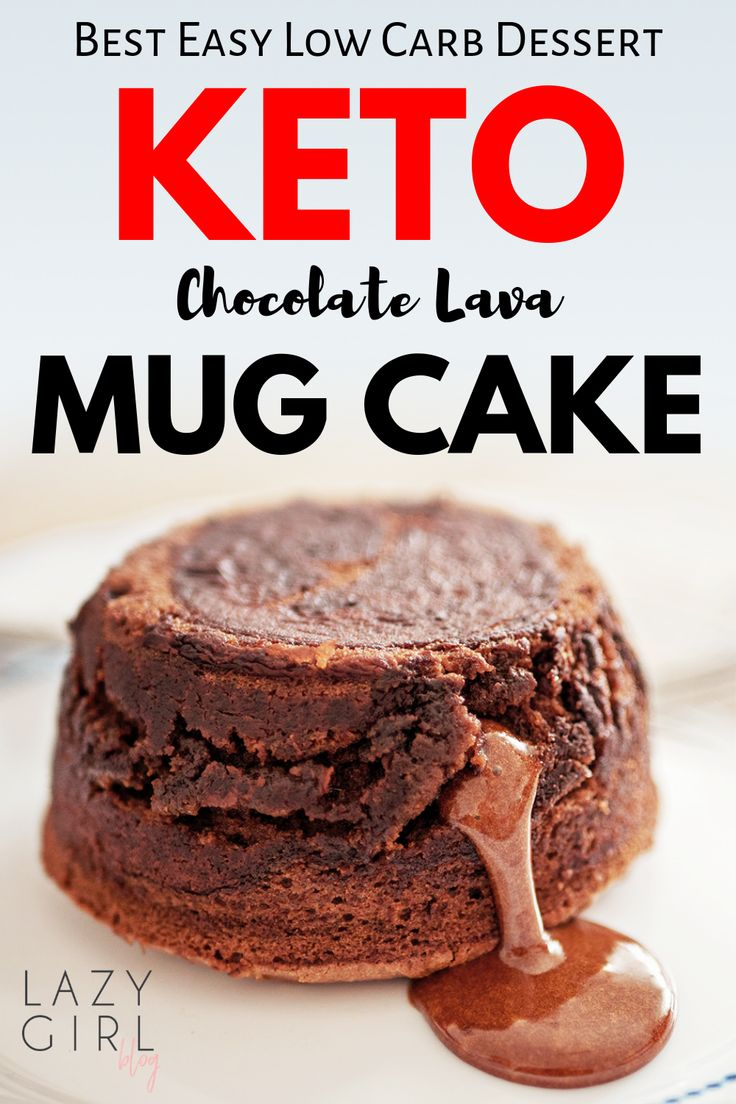 This low carb chocolate Keto Lava Mug Cake recipe is best ...