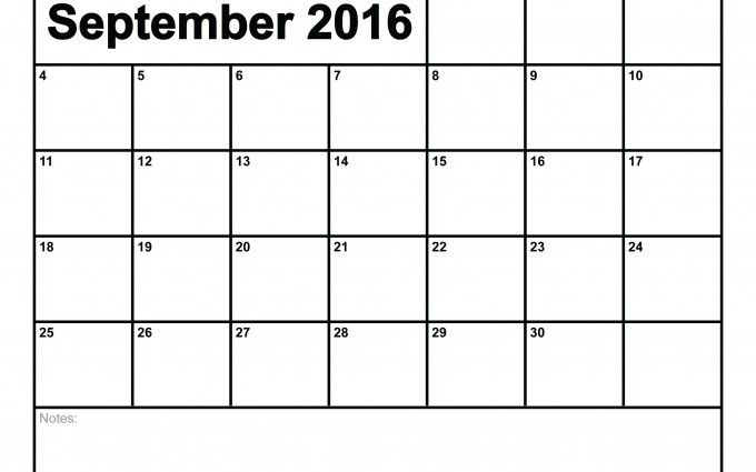 September 2016 Calendar Printable | Calendars With