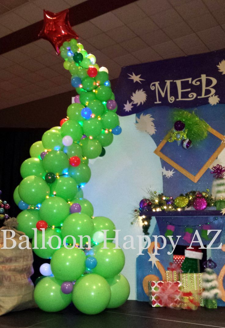 Christmas party decoration ideas kids - Whoville Christmas Party Ideas Balloonhappyaz Blog See What Makes