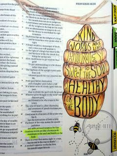 Artsy Faith: Proverbs 16:24 Bible Art Journaling, Memory verses, Bible Journaling