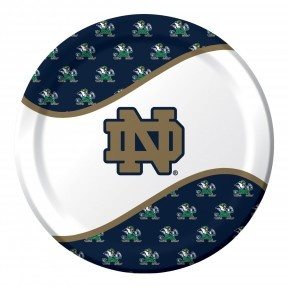 "Notre Dame 8.75"" Paper Dinner Plates - 96 per case  Product # :424842  $22.55"