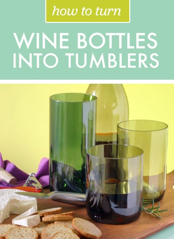 How to Turn Wine Bottles into Tumblers   Brit + Co.