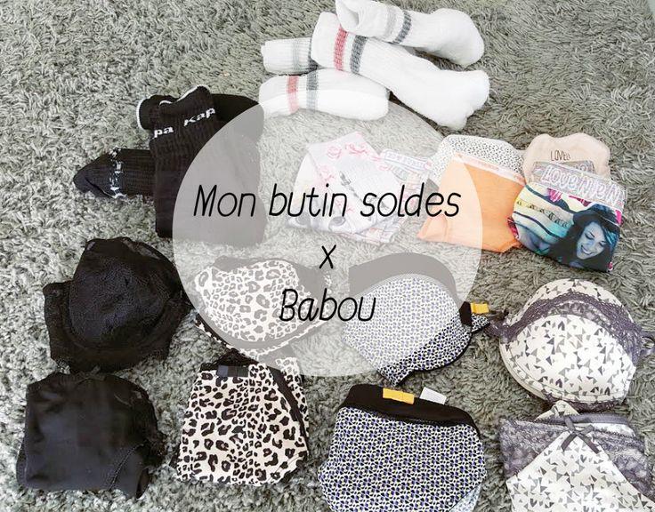 Butin des #soldes : voici la razzia de @dresssiennalou au rayon #SousVêtements #babou pour elle et Nini ! #lingerie