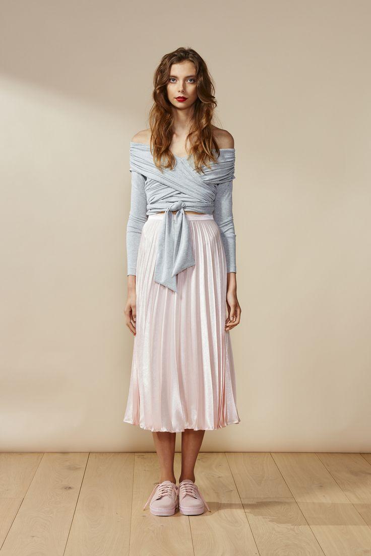 RUBY Sonnet Wrap Top & Cecilia Pleat Skirt