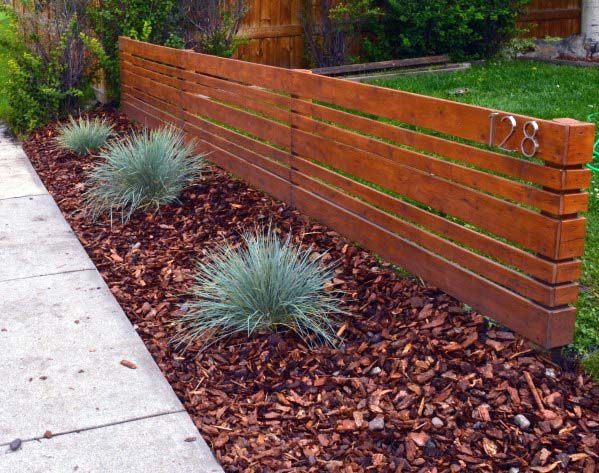 Top 60 Best Front Yard Fence Ideas Outdoor Barrier Designs Small Front Yard Landscaping Front Yard Landscaping Design Backyard Fences