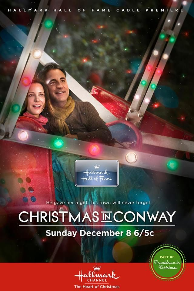 """A husband's love will make this the #Christmas of a lifetime! It's the Hallmark Channel USA premiere of """"CHRISTMAS IN CONWAY"""" from the Hallmark Hall of Fame starring Andy Garcia, Mary-Louise Parker & Mandy Moore. SUNDAY 6/5C"""