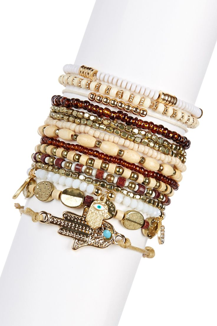 Natura Buddha Stretch Bracelet Set on @HauteLook