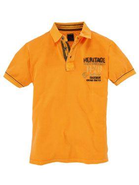 TOM - Poloshirt in Orange.