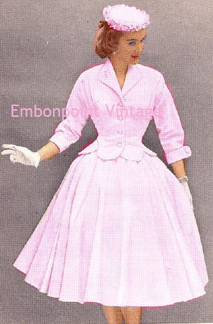 New to EmbonpointVintage on Etsy: Plus Size (or any size) Vintage 1949 Skirt Suit Sewing Pattern - PDF - Pattern No 73 Maggie (17.25 AUD)