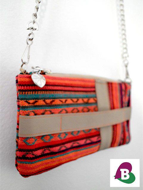 Caracus Clutch & Cross Body Bag - Beige Leather handmade by becauseilikeitAU