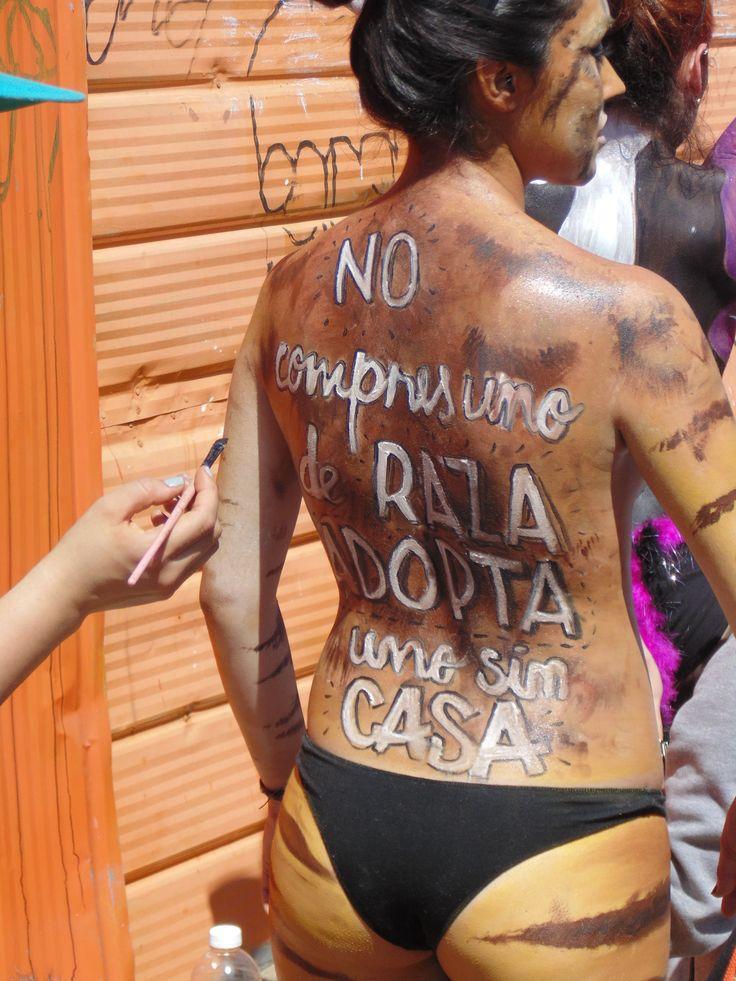 pintura corporal, en el marco dela celebración Valparaíso mil tambores 2014