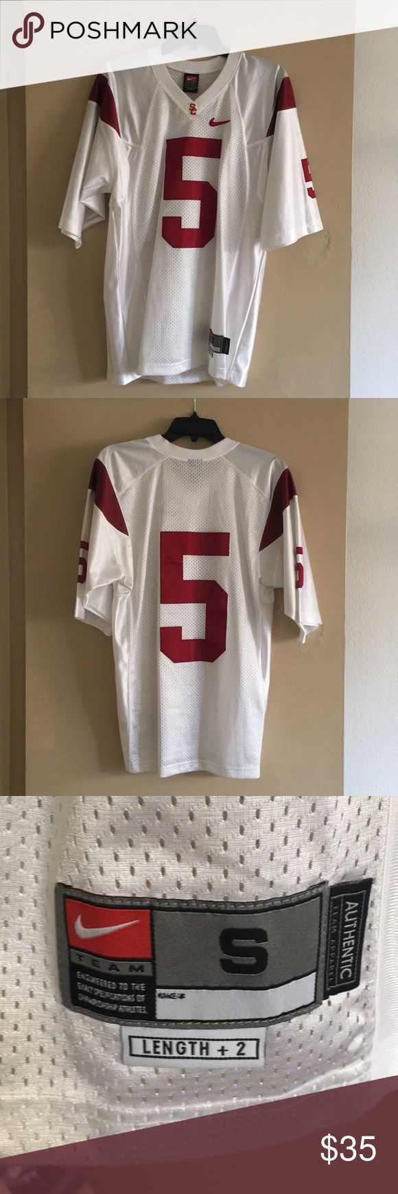 Nike USC #5 Jersey might as well be new. worn twice, 10 years ago. stitched numbers, not screen printed Nike Shirts