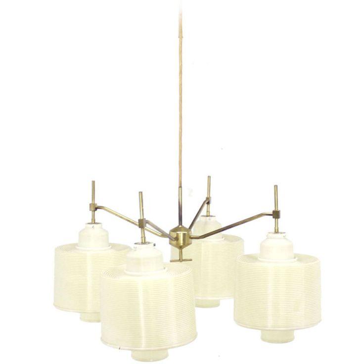 4 white acrylic shade mid century modern adjustable light fixture chandelier modern chandelierchandelierspendant