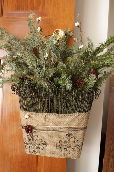 Southern Living At Home Twirly Twig Door Bucket -- Such a lovely way to use it.