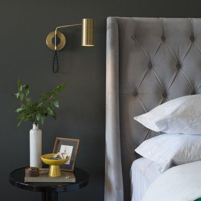 Wall Lamps In Bedroom : 25+ best ideas about Bedroom Sconces on Pinterest Bedroom wall lamps, Tufted bed and Bedside ...