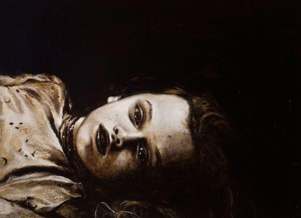 用力获得不同的理性 板上油画,24 x 18 cm, 2014