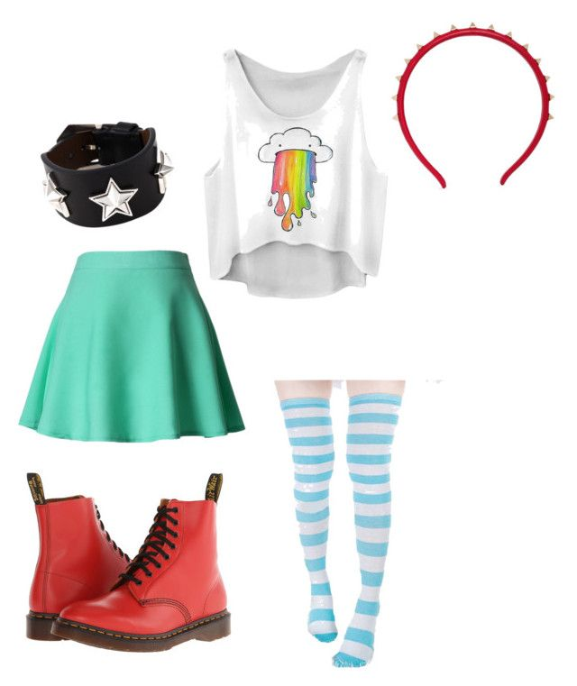"""""""Star Butterfly outfit #2"""" by margrett7 ❤ liked on Polyvore featuring Chicwish, Givenchy, Valentino and Dr. Martens"""