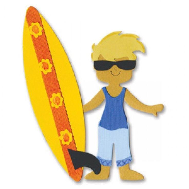 Sizzix Bigz Die - Dress Ups Surfer Outfit - Brand New