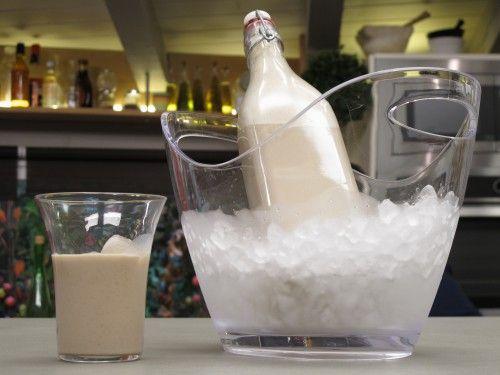 Licor de leche y vainilla