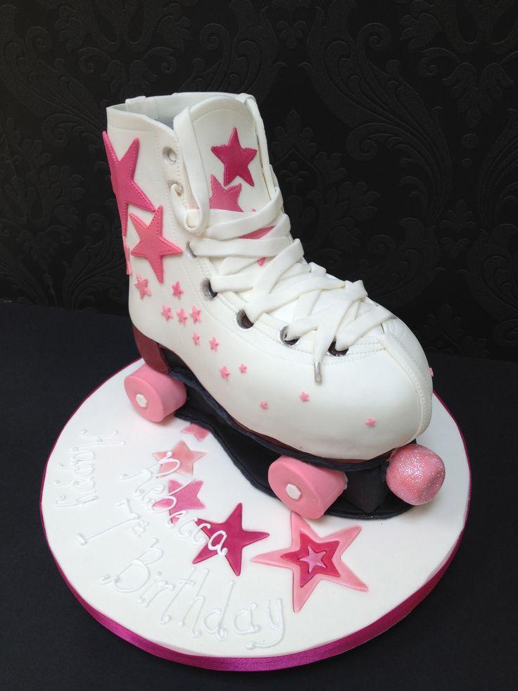 Roller Skate Cake cakepins.com