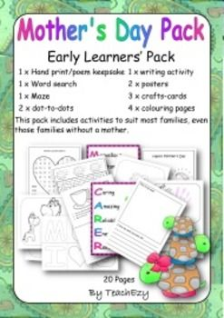 Mother's Day Resource Pack for Early Learners