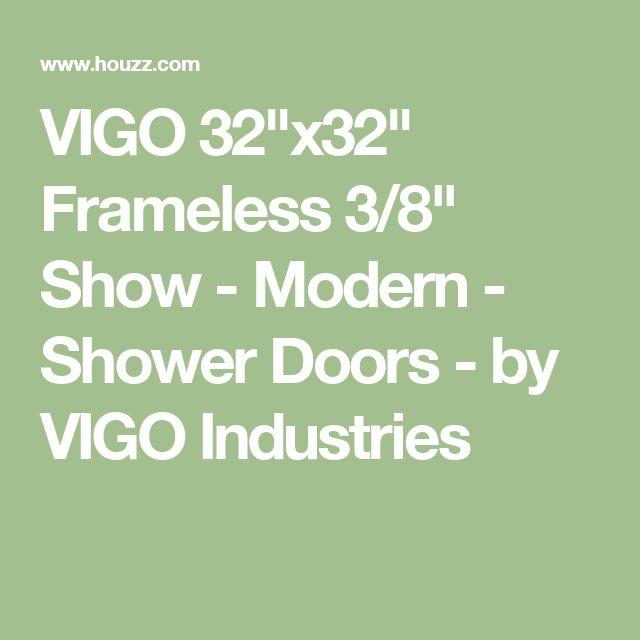 "VIGO 32""x32"" Frameless 3/8"" Show - Modern - Shower Doors - by VIGO Industries"