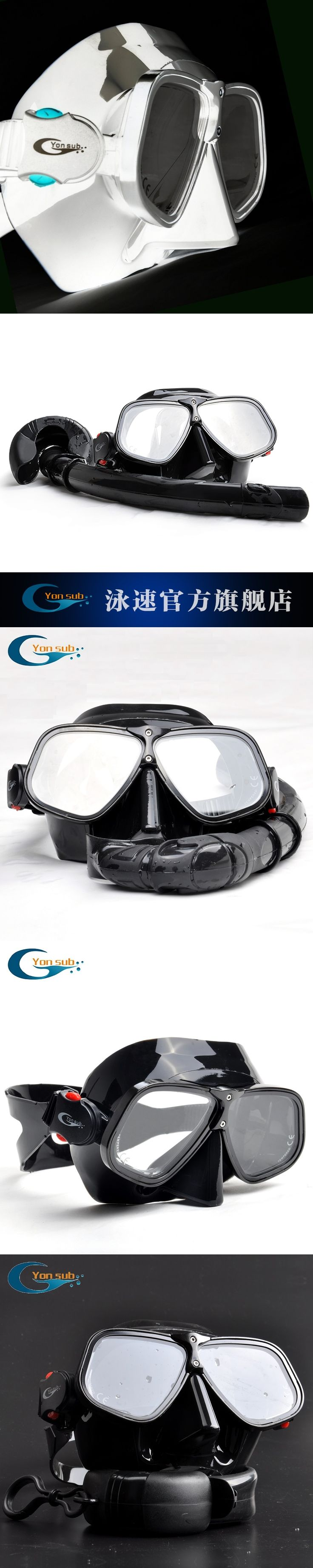 Alloy Silicone goggles free diving mask snorkeling Sambo professional scuba diving equipment dive