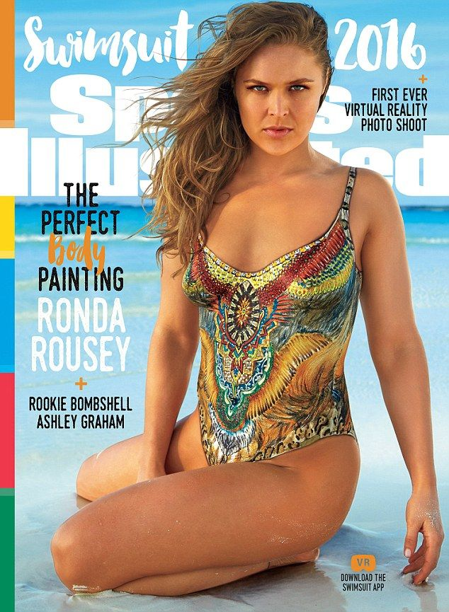 She's a looker: Their lunch came just hours before Ronda was revealed as one of three beauties chosen for the Sports Illustrated Swimsuit edition, posing in nothing but a painted swimsuit