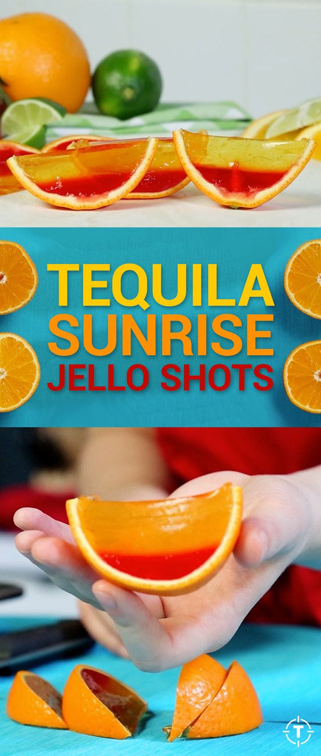 Tequila Sunrise Jell-O Shots Are Better Than Real Fruit