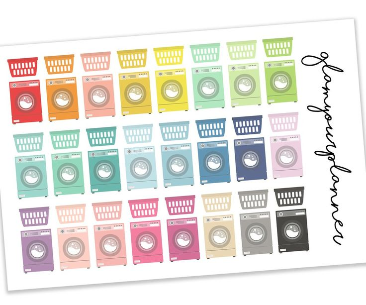 Laundry Stickers - 48 Planner Stickers - glamyourplanner
