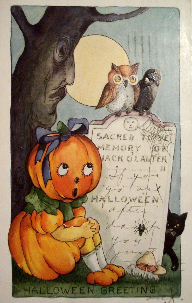 Best 25+ Vintage halloween cards ideas on Pinterest | Vintage ...