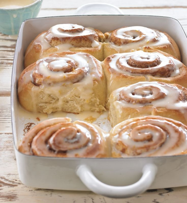 Overnight Cinnamon Rolls with Orange-Cream Cheese Icing ...