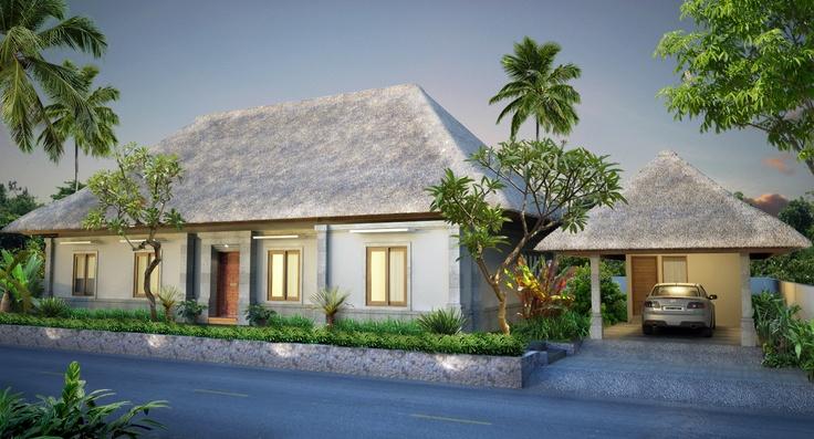 Moderne villa met klassieke look door gebruik van natuursteen en rieten kap