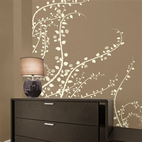 awesome wall decals- they really do peel off easily with NO damage to the paint. even better- they come in tons of different colors..