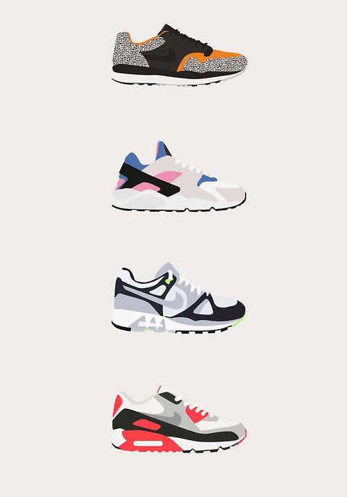 Nike sneaker illustrations