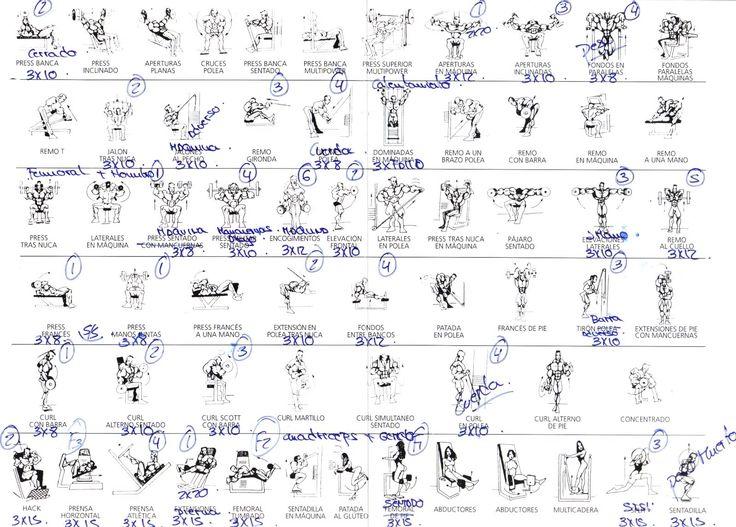 Best 25 rutinas para el gimnasio ideas on pinterest for Rutinas gimnasio